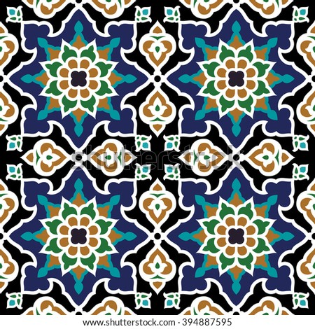 iraq floral seamless pattern