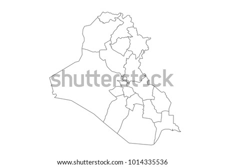 Free Vector Map Of Iraq Free Vector Art At Vecteezy - Iraq map outline