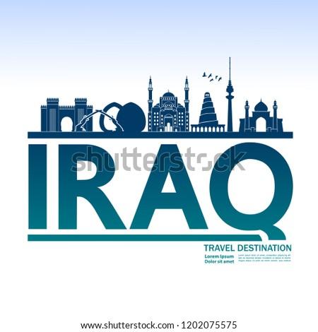 Iraq Travel Destination Vector.