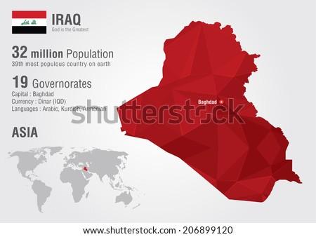 Mapa de vector libre de irak arte libre del vector en vecteezy iraq world map with a pixel diamond texture world geography gumiabroncs Images