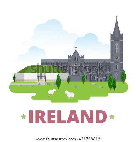 ireland country design template