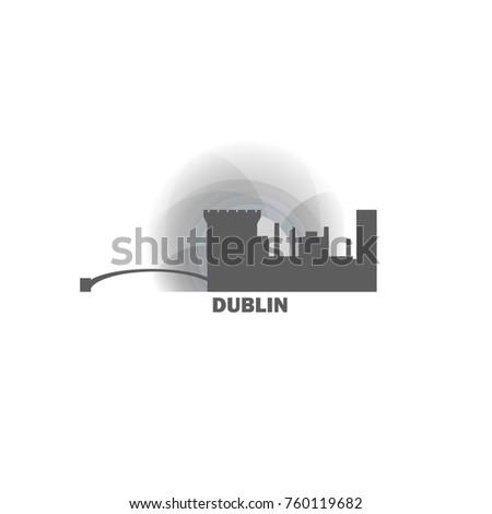 ireland dublin black white