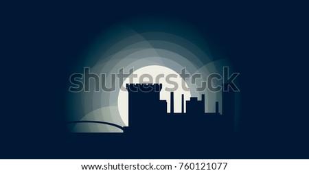 ireland dublin blue night moon