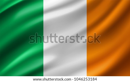 ireland flag in vector