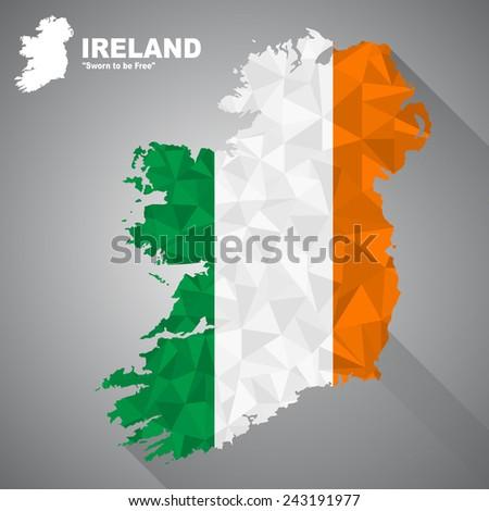 ireland flag overlay on ireland