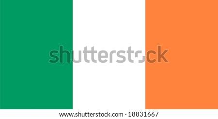 Ireland flag vector isolated illustration