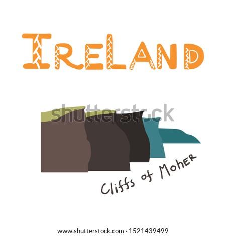 ireland illustrated hand drawn
