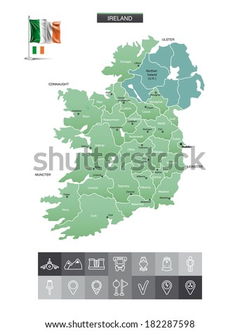 ireland map and navigation