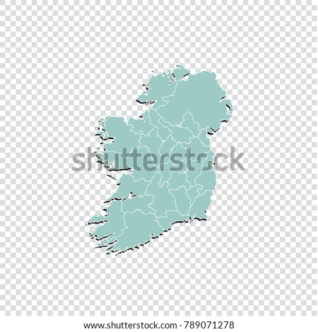 ireland map   high detailed