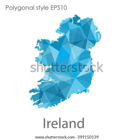 ireland map in geometric