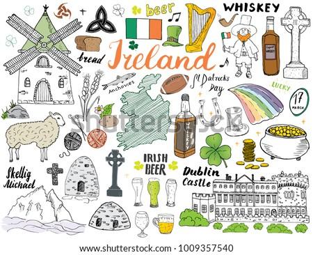 ireland sketch doodles hand