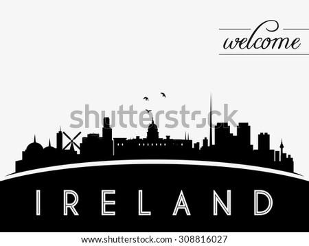 ireland skyline silhouette