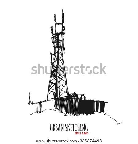 ireland urban sketch outdoor