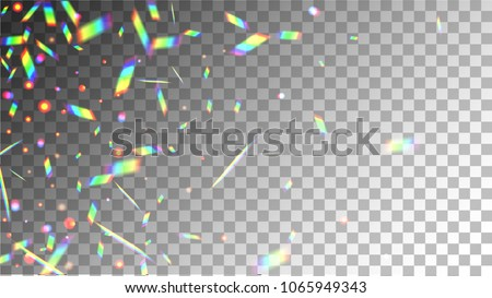Iridescent Background. Holographic Background with Light Glitch Effect.  Vector Rainbow Gradient with Sunshine Glare.  Mesh Holographic Foil Backdrop.  Trendy Hologram Vector Background