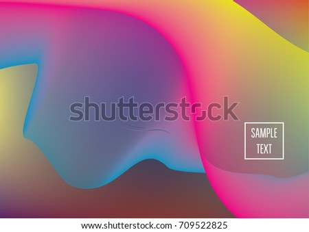 iridescent neon colored minimal