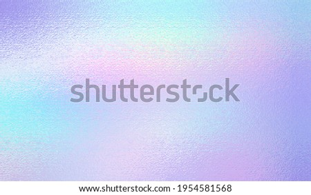Iridescent texture. Hologram background. Holographic rainbow foil. Holo gradient. Pearlescent shine effect. Speckle iridescent metal. Pastel color. Pastel silver texture. Halographic pattern. Vector