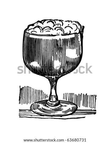 Irish Coffee - Retro Clipart Illustration