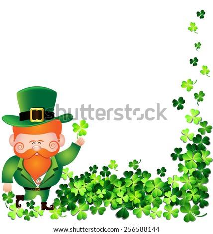 irish man with shamrock leaf