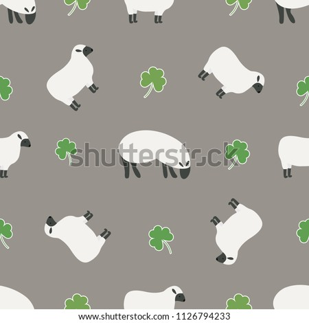 irish shamrock  clovers  sheep