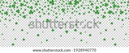 Irish shamrock leaves on transparent background for Happy St. Patrick's Day. Foto stock ©