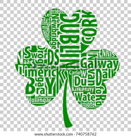 irish shamrock vector art with
