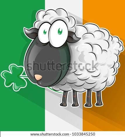 irish sheep cartoon on ireland
