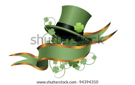 Irish St. Patrick's Day Banner EPS 8 vector, grouped for easy editing. No open shapes or paths.