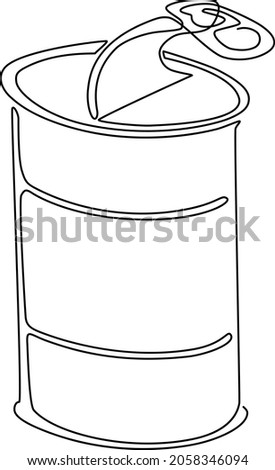 iron can with an open lid