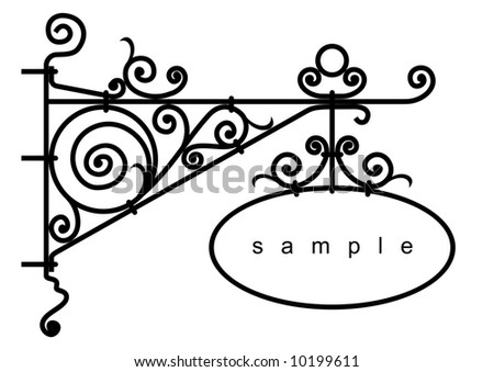 iron design elements - vector illustration - stock vector