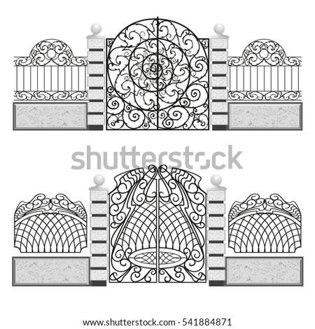 iron entrance gates
