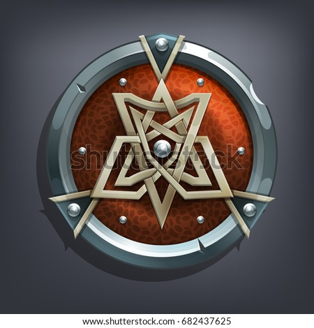 iron fantasy shield for game or