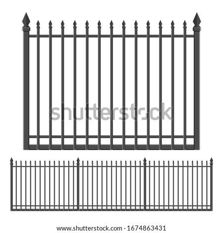 iron forged fence vector design