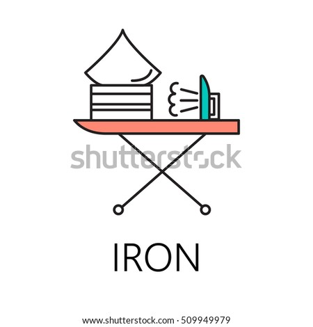 iron line icon vector symbol