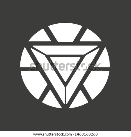 Iron Man logo. Superhero logo. Vector illustration. EPS 10.