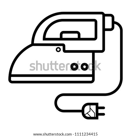 iron minimalistic icon vector