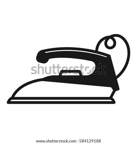 iron old minimalistic flat line