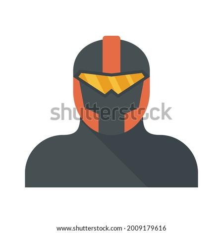 iron superhero icon flat
