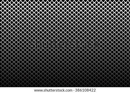 iron wire mesh pattern on black