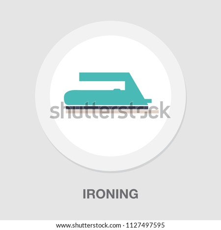 ironing clothes illustration isolated on white, - vector dry clean sign symbol