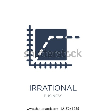 Irrational exuberance icon. Trendy flat vector Irrational exuberance icon on white background from Business collection, vector illustration can be use for web and mobile, eps10