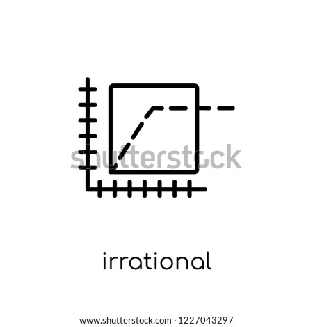 Irrational exuberance icon. Trendy modern flat linear vector Irrational exuberance icon on white background from thin line Business collection, editable outline stroke vector illustration