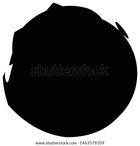 Irregular circle / Grungy, spot, wet shape, smudge, blotch effect