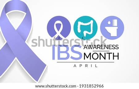 Irritable Bowel syndrome (IBS) awareness month observed each year during April. to focus attention on important health messages about IBS diagnosis, treatment, and quality of life issues. Photo stock ©