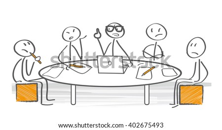 Irritated business team arguing during the meeting