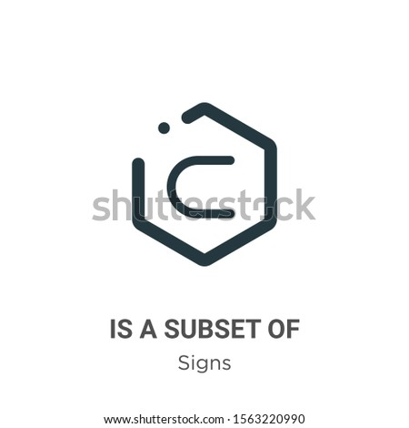 Is a subset of symbol vector icon on white background. Flat vector is a subset of symbol icon symbol sign from modern signs collection for mobile concept and web apps design.