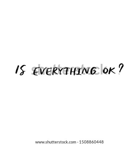 is everything ok  vector hand
