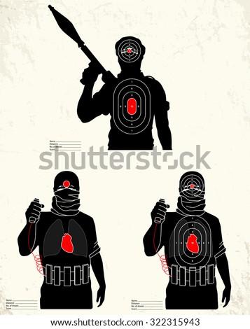 isis terrorist   shooting range