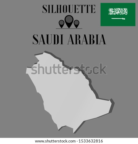 Islam, Arab Saudi Arabia outline world map silhouette vector illustration, creative design background, national country flag, objects, element, symbols from countries all continents set.