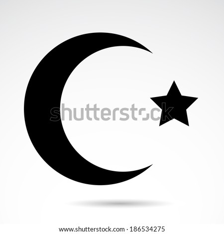 islam symbol isolated on white