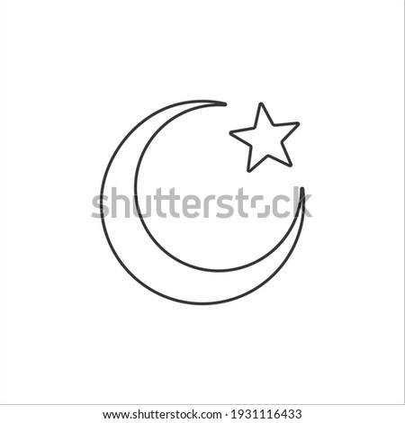islam symbol moon and star